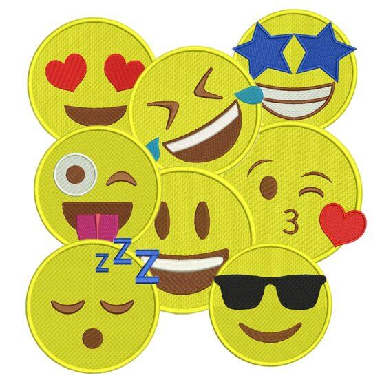 Pacote com 54 matrizes de Emojis